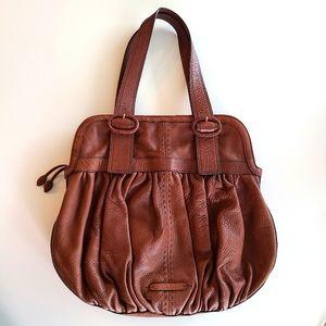 Cole Haan Cognac Leather Hobo Shoulder Bag